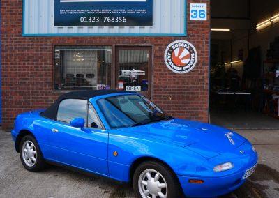 1989 Mazda MX5 (Eunos Roadster) in Mariner blue – SOLD!!
